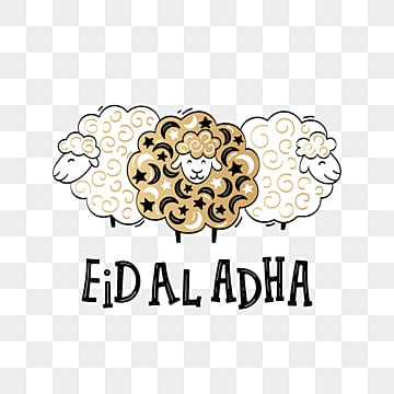 eid al adha festival poster with lettering and sheeps in cartoon, Png, Islamic, Eid PNG and Vector