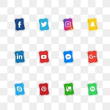 social media icons, Social Media Icons, Social Media, Social Media Logo PNG and PSD illustration image