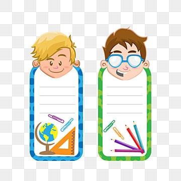 back to school tags in boy style, School, Book, Education PNG and Vector