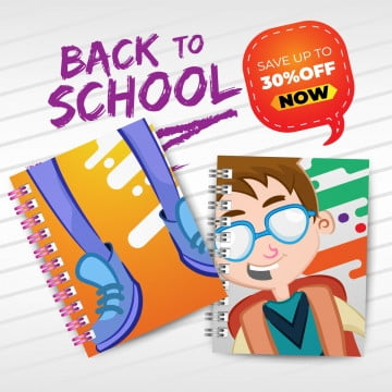 back to school with realistic notebooks, Background, School, Education PNG and Vector