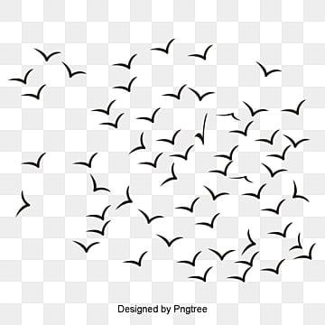 Simple Bird Silhouette Clip Art