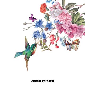 手繪花鳥設計, 手繪, 極簡主義者, 鳥 PNG和PSD圖片素材