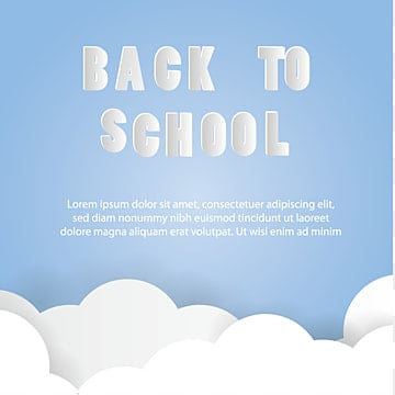 back to school paper art vector, School, Back, Banner PNG and Vector