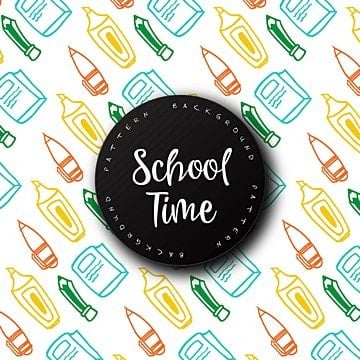 hand drawn back to school pattern background, Hand, Drawn, Sketch PNG and Vector