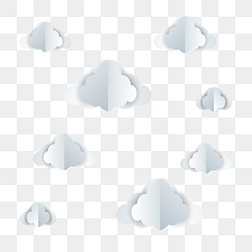 Paper cut art  cloud background, Cloud, Paper Art, Cloud Background PNG and Vector