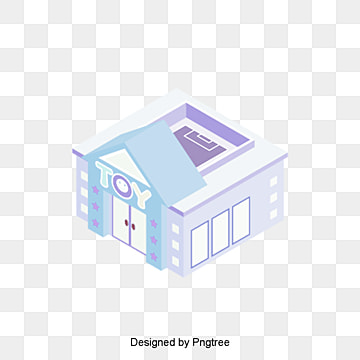 cartoon 2 5d building decoration pattern, Cartoon, Building, Decoration PNG and PSD