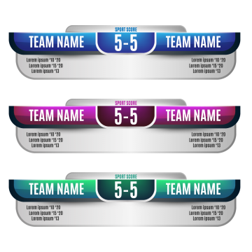 Scoreboard elements design for football and soccer, Soccer, Scoreboard, Football PNG and Vector