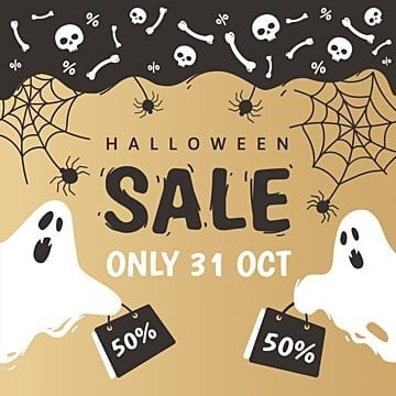 halloween poster for sale in hand drawn style with ghosts in, Png, Holiday, Halloween PNG and Vector