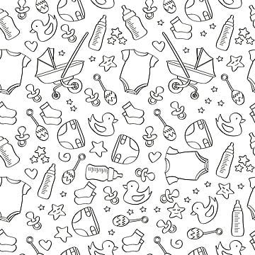 df9f40f9c hand drawn seamless baby icon pattern backgroundBebe Antecedentes Nacimiento  PNG Y Vector