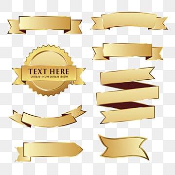 Gold Ribbon Pack, Ribbon, Text, Gold Ribbon PNG and Vector illustration image