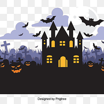 simple cartoon halloween, Halloween, Bat, Phantom PNG and PSD