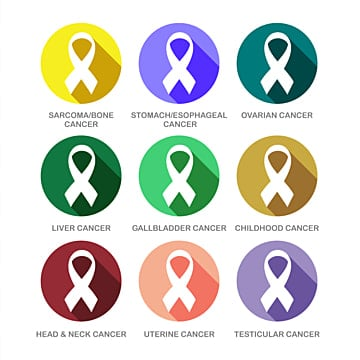 Various Cancer Ribbon Symbols Icon Set Ribbon Ribbons Shape Png And Vector With Transparent Background For Free Download