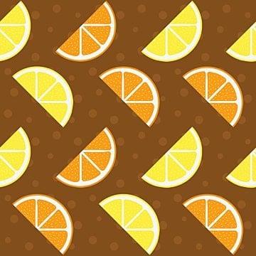 Cartoon Cartoon Orange Orange Slice Lemon, Lemon Block