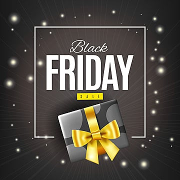 Black friday gift box, Black Friday, Sale, Banner PNG and Vector