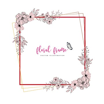 Floral Frame Png, Vectors, PSD, and Clipart for Free Download | Pngtree