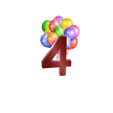 number 4 birthday png