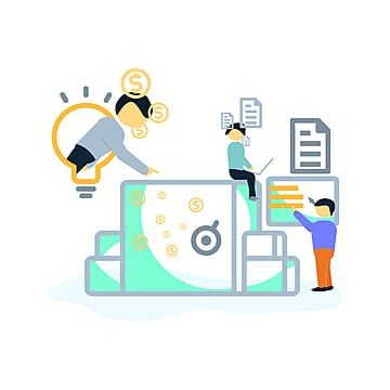 flat style vector illustration  vector illustration of business design concepts for, Website, Digital, Web PNG and Vector