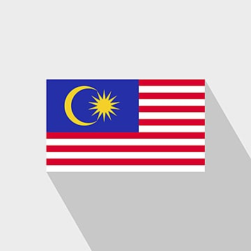 malaysia flag long shadow design vector, 16, 16th, Asia PNG and Vector