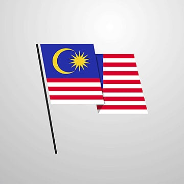 malaysia waving flag design vector background, 16, 16th, Asia PNG and PSD