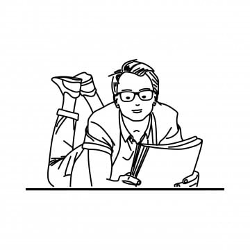 Man Reading Book Png Vector Psd And Clipart With
