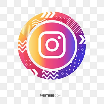 Instagram Memphis Design Social Media Icon, Colorful Icon, Ig Icon, Instagram Logo PNG and PSD illustration image