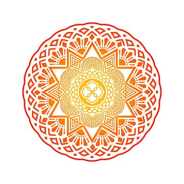 Round gradient mandala on white background, Mandala, Indian, Boho PNG and Vector