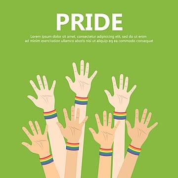 vector illustration for pride month event celebration many hands up, Arrogant, Background, Banner PNG and Vector