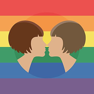 vector illustration for pride month event celebration two women kissing, Arrogant, Avatar, Background PNG and Vector