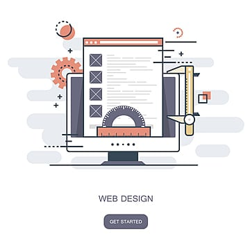 web design concept  flat vector illustration, Application, Background, Banner PNG and Vector