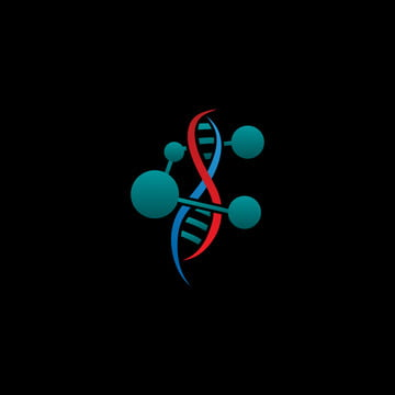 dna logo with chemical structure vector template icon for biotechnology, Dna, Logo, Template PNG and Vector