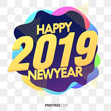New Year 2019 Celebrate Fluid Design, New Year, Happy New Year, 2019 PNG and PSD