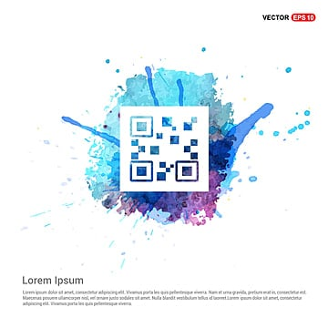 qr code icons   watercolor background, App, Badge, Bar PNG and Vector