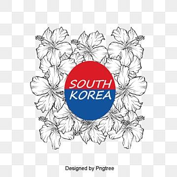 현대 패션 만화 한국 무궁화 원소, 만화, 자유형, 현대 PNG 및 PSD