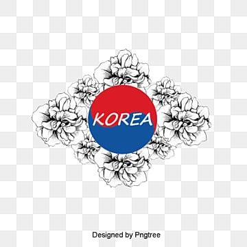 현대 한국 무궁화 장식 원, 만화, 자유형, 현대 PNG 및 PSD