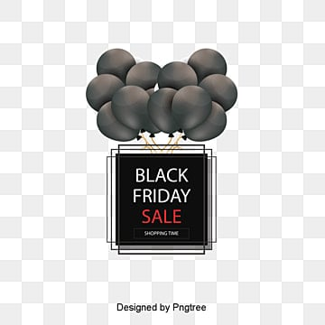 black friday promotion patterns, Black, Balloon, Square PNG and PSD
