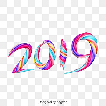 2019 new year wallpaper elements background, 2019 New Year, Happy New Year, Colorful PNG and PSD