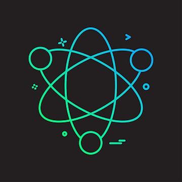 la conception de licône de latome vecteur, La Science, Vecteur, Conception png et vecteur