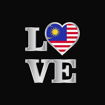 love typography malaysia flag design vector beautiful lettering, 16, 16th, Asia PNG and Vector