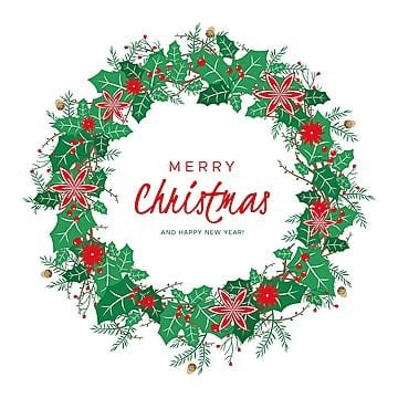 Christmas wreath reef. Png vector psd and