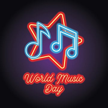 Music And Live Music Logo With Neon Light Effect Vector