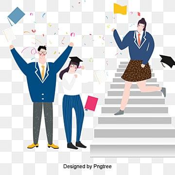 자유형 만화 학생은 졸업 미친듯이 삽화 수능 시험, 만화, 자유형, 여자 PNG 및 PSD