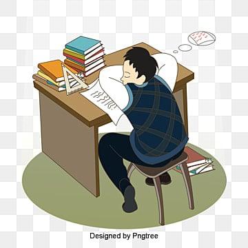학생 자고 창의 자유형 장면, 만화, 남자, 학습 PNG 및 PSD