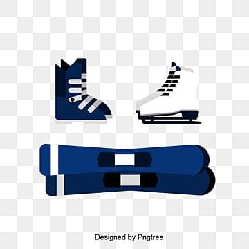 푸른 야외 스키 장비 원소, 스포츠, 레저, 옥외 운동 PNG 및 PSD