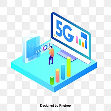 cartoon 5g internet scene, Technology, Information, Internet PNG and PSD