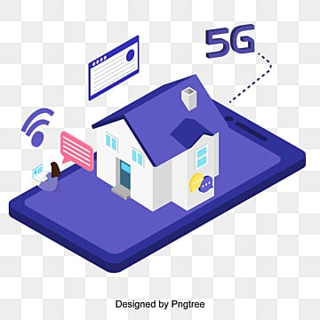 cartoon flat 5g to the future scene, Technology, Information, Internet PNG and Vector