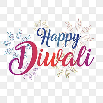 colorful happy diwali typography text with fireworks, Colorful, Diwali, Happy PNG and Vector