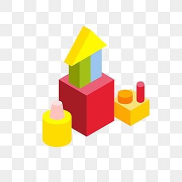 Cartoon Building Blocks Hd Background, Cartoon, Building