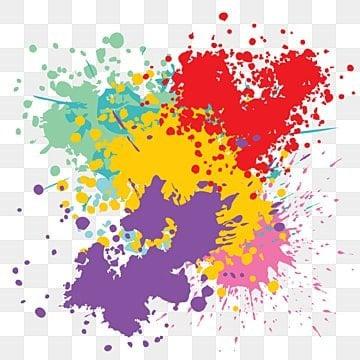 Красочный гранж краска пятно установить эффект кисти, Покрасить, всплеск, красочная кисть PNG ресурс рисунок и векторное изображение