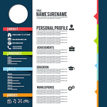 Resume Design Png Vector Psd And Clipart With Transparent Background For Free Download Pngtree