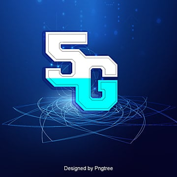 3d effect 5g material, 5g, Wireless, Blue PNG and PSD